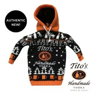 NWT Tito's Limited Edition Vodka Bottle Sweater